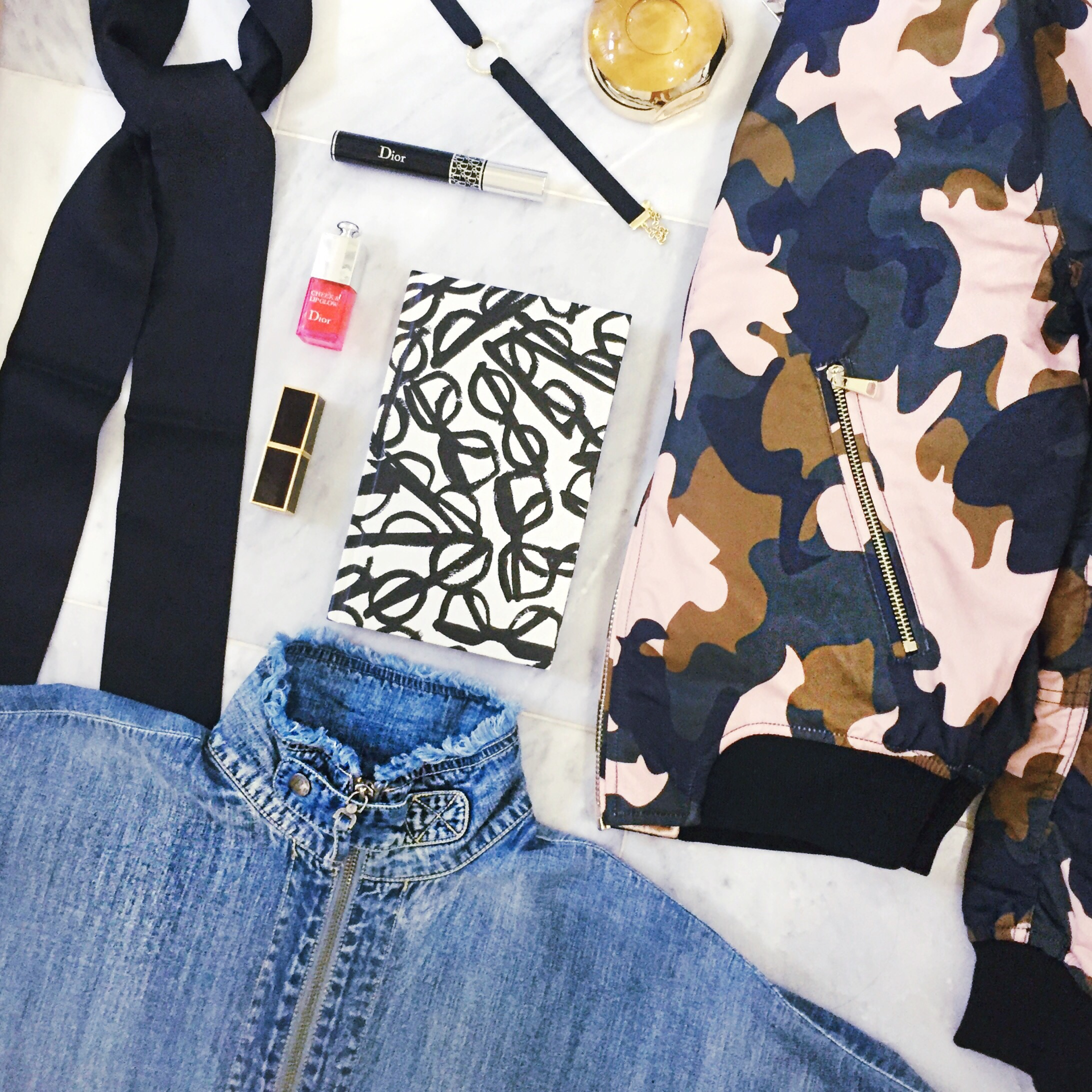 flat lay, nordstrom anniversary sale picks, camo bomber jacket