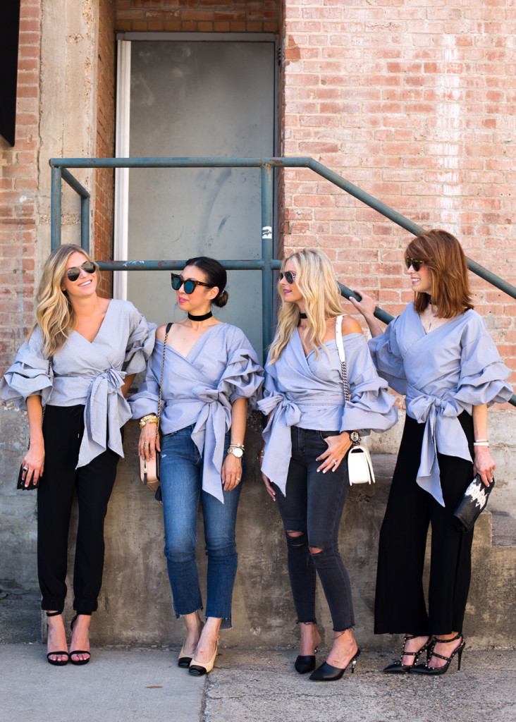chic at every age, ruched sleeve top