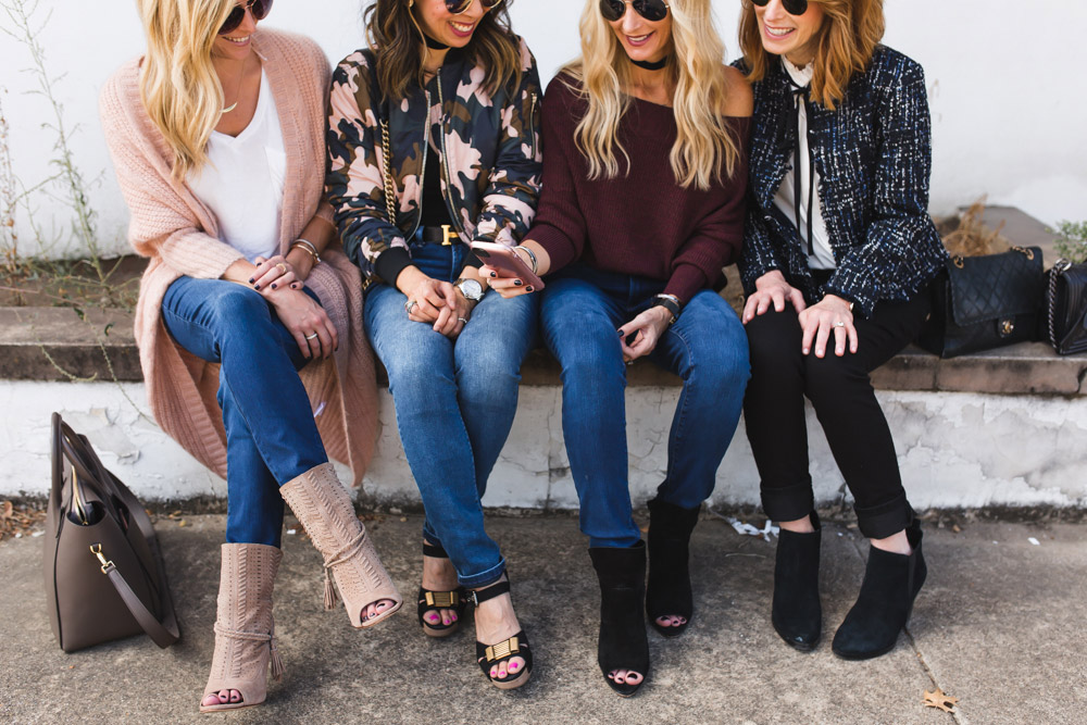chic at every age blogger friends wearing NYDJ uplift jeans having fun