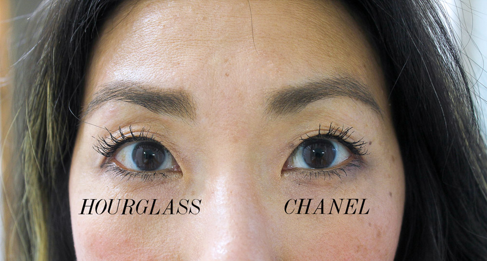 chanel versus hourglass lash curator tool primer and mascara set review asian lashes