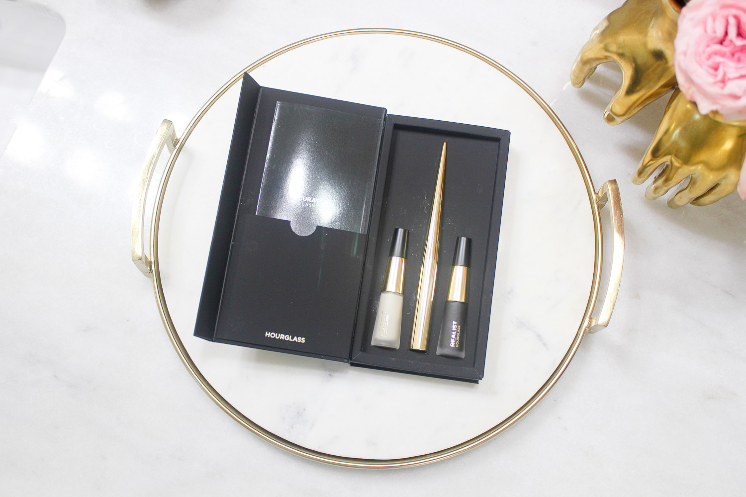 hourglass lash curator tool primer and mascara set