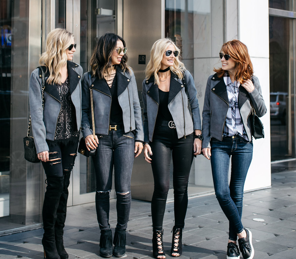 Chic at Every Age // Lilla P Moto Jackets