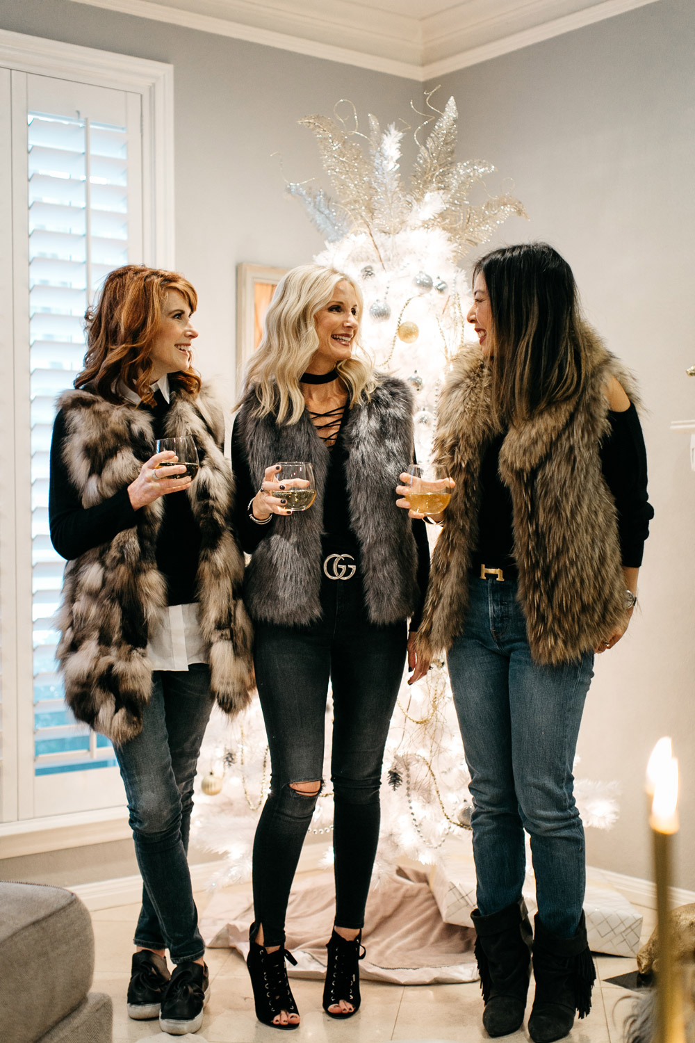 how to wear a fur vest, gifts for your bff under $50