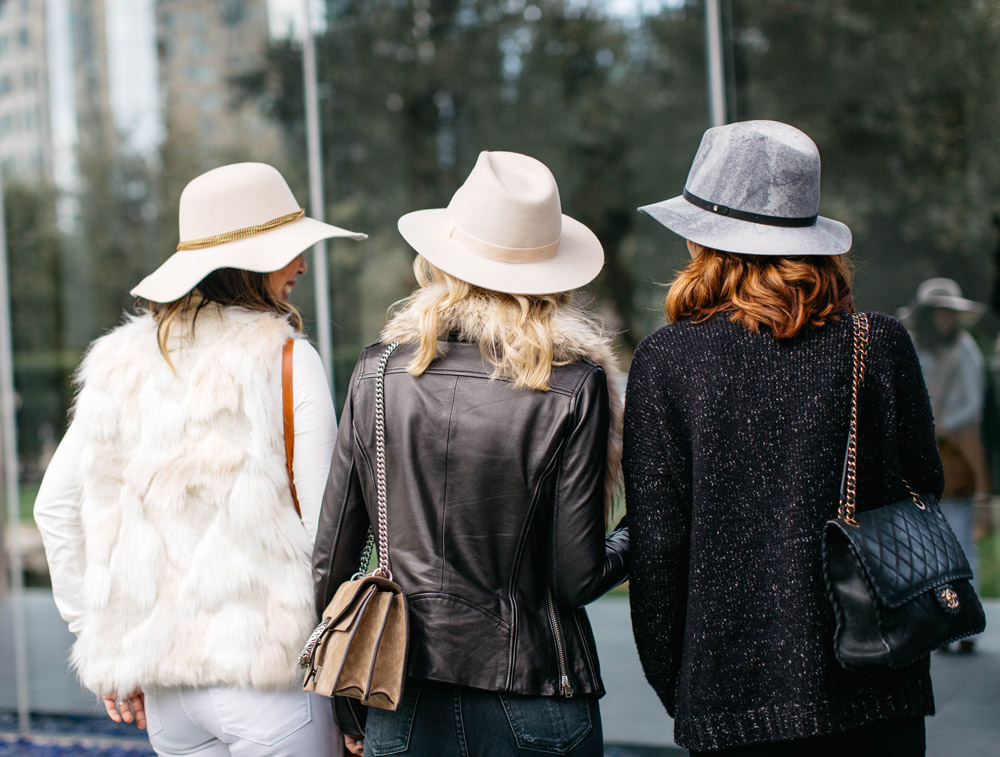 3 different ways to wear a winter hat, chic at every age