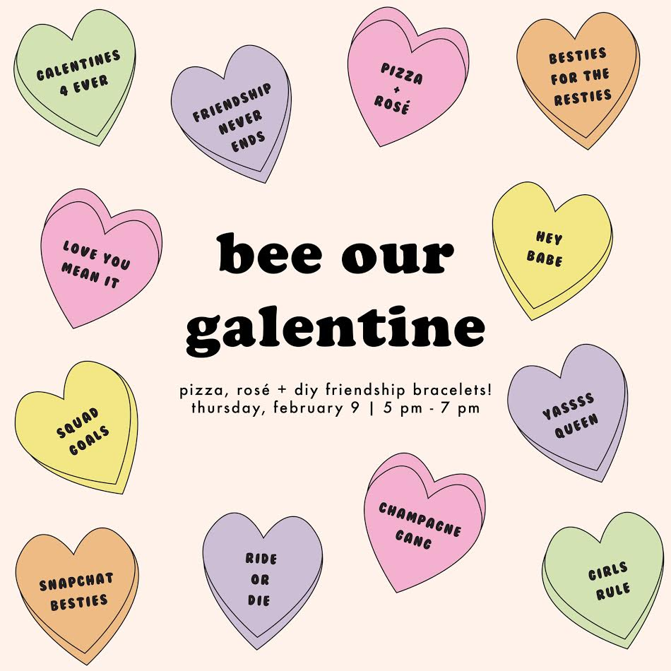 galentines day party 2017 at beehive boutique fort worth texas