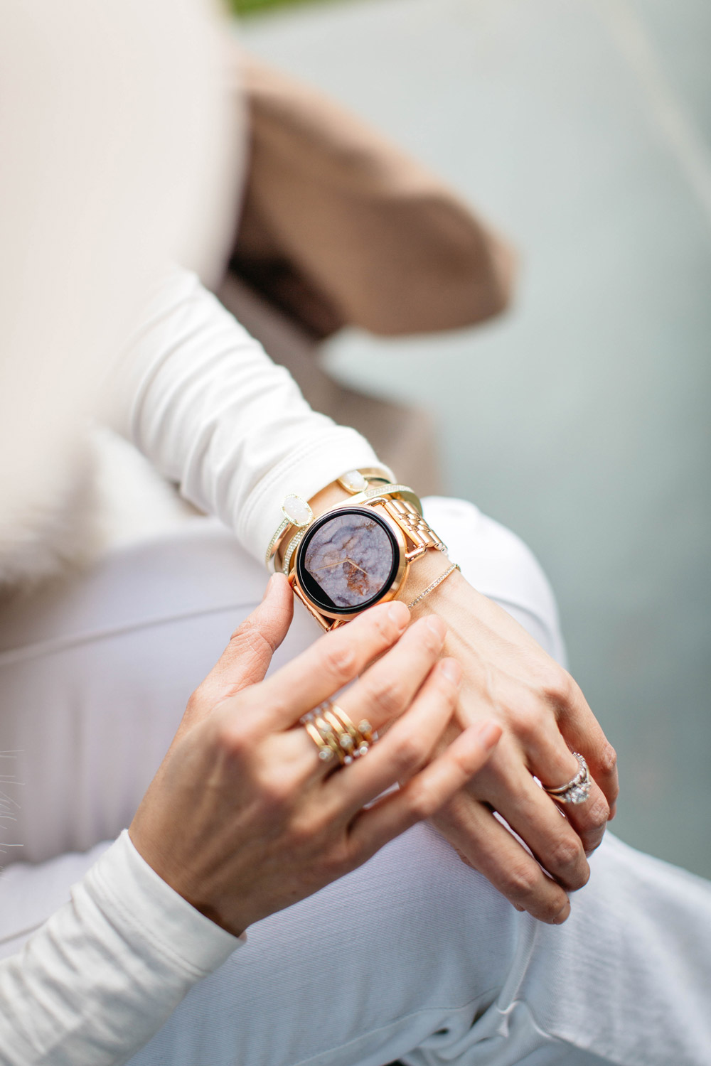 fossil q wander rose gold smart watch review
