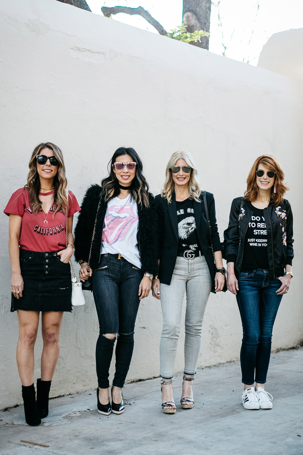 chic at every age, how to wear a graphic tee