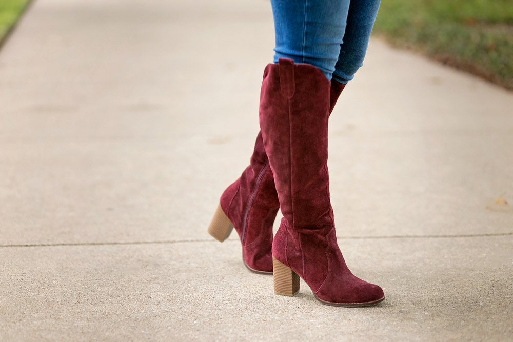rebel with cause over the knee bordeaux boots