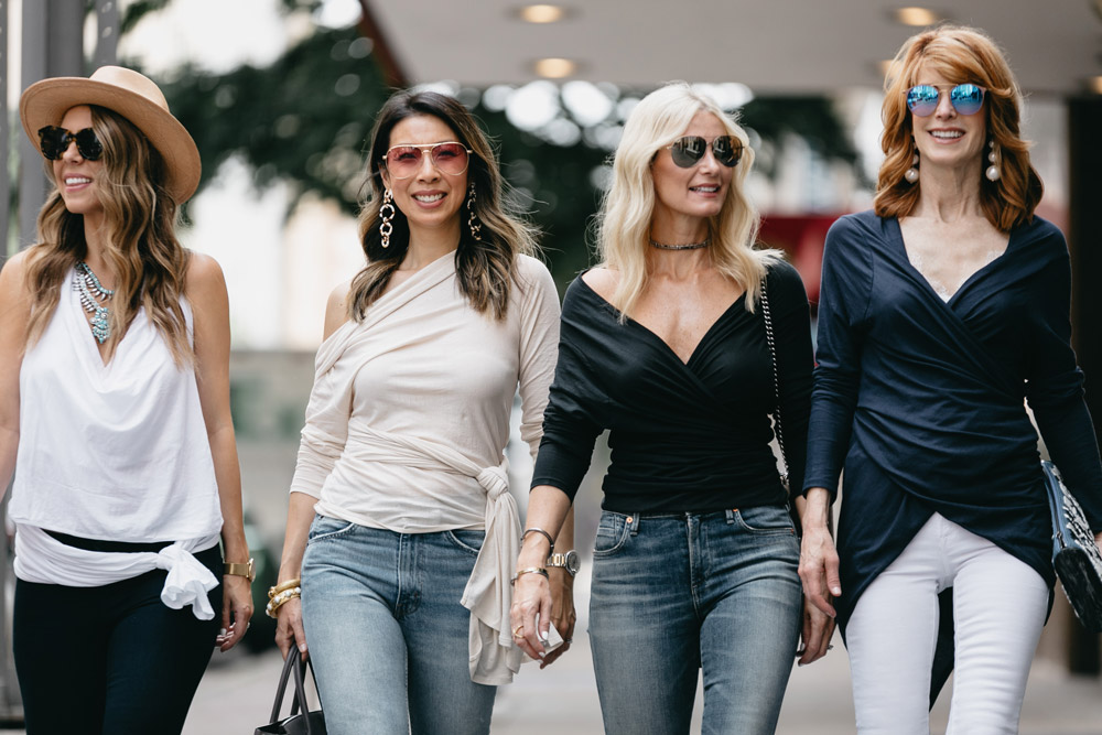 four ways to wear the lilla p origami top, chic at every age