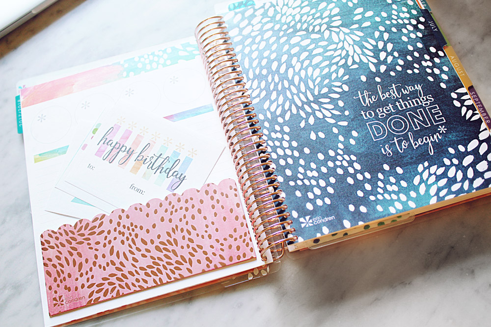 Erin Condren Lifeplanner 2018 Metallic Painted Petals Review