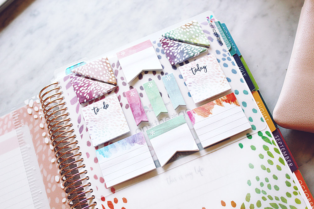 Erin Condren Lifeplanner 2018 Painted Petals Sticky Notes