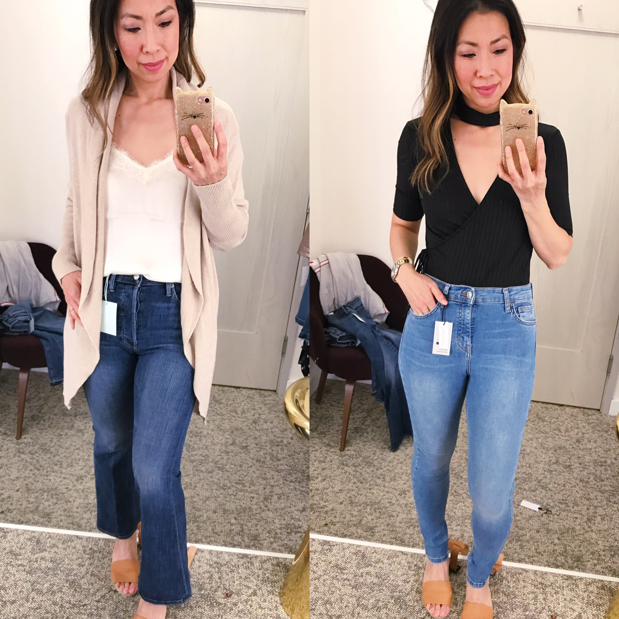 1a04aa83edf27e Nordstrom Anniversary Sale 2017 Dressing Room Diaries leith cardigan ASTR  choker bodysuit
