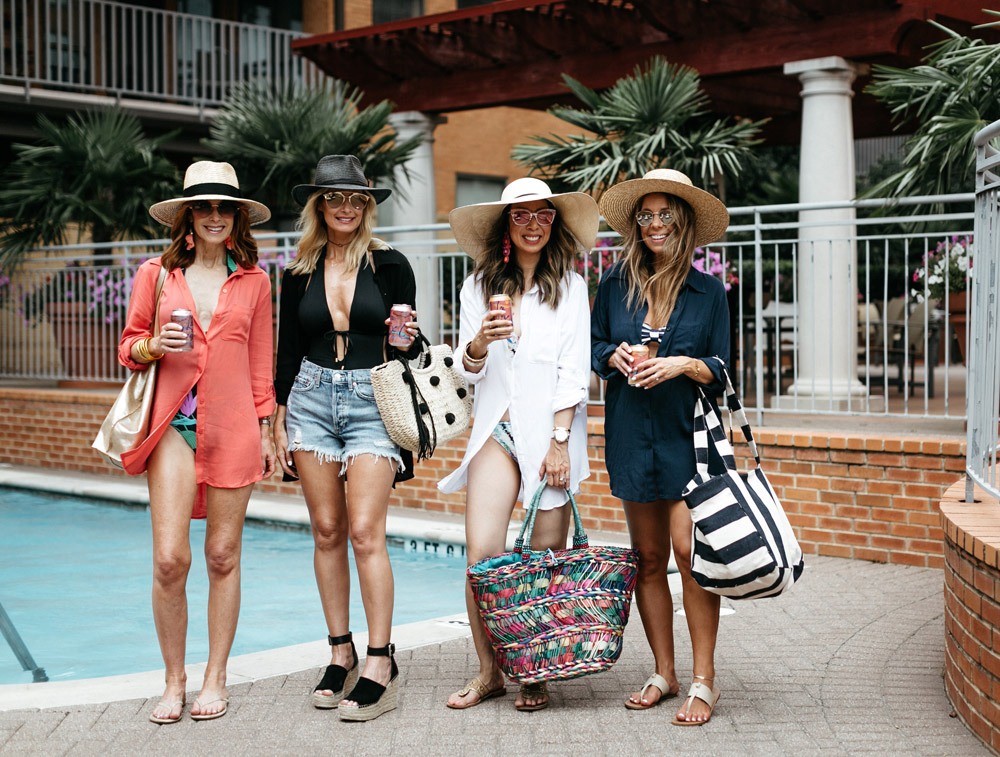 how to wear a button up swim cover up at any age