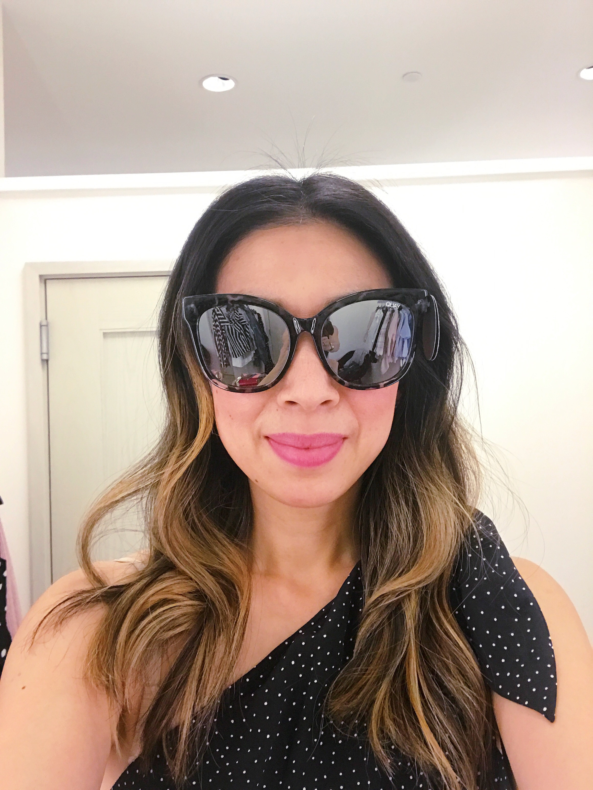 NSale Dressing Room Diaries 2017 Quay oversized square sunglasses