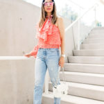 Luxe for Less // One Shoulder Ruffle Top