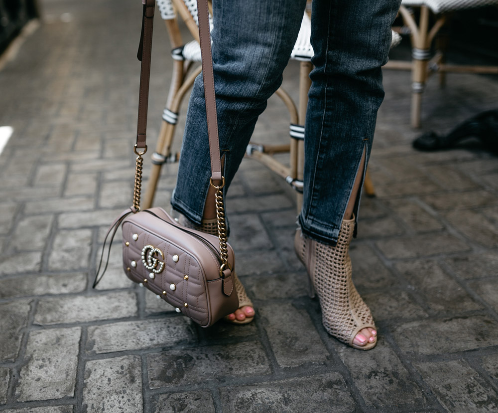 frame front split jeans gucci pearl marmont camera bag sam edelman perforated peep toe booties