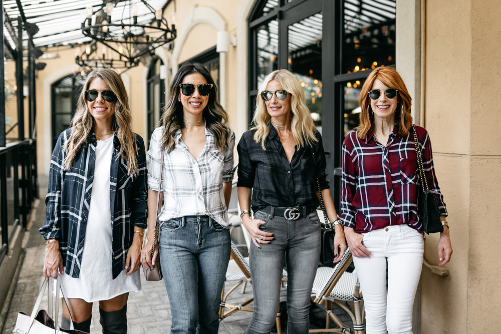 chic at every age four ways to wear RAILS hunter plaid shirt