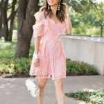 LUXE FOR LESS // PINK ONE SHOULDER RUFFLE DRESS