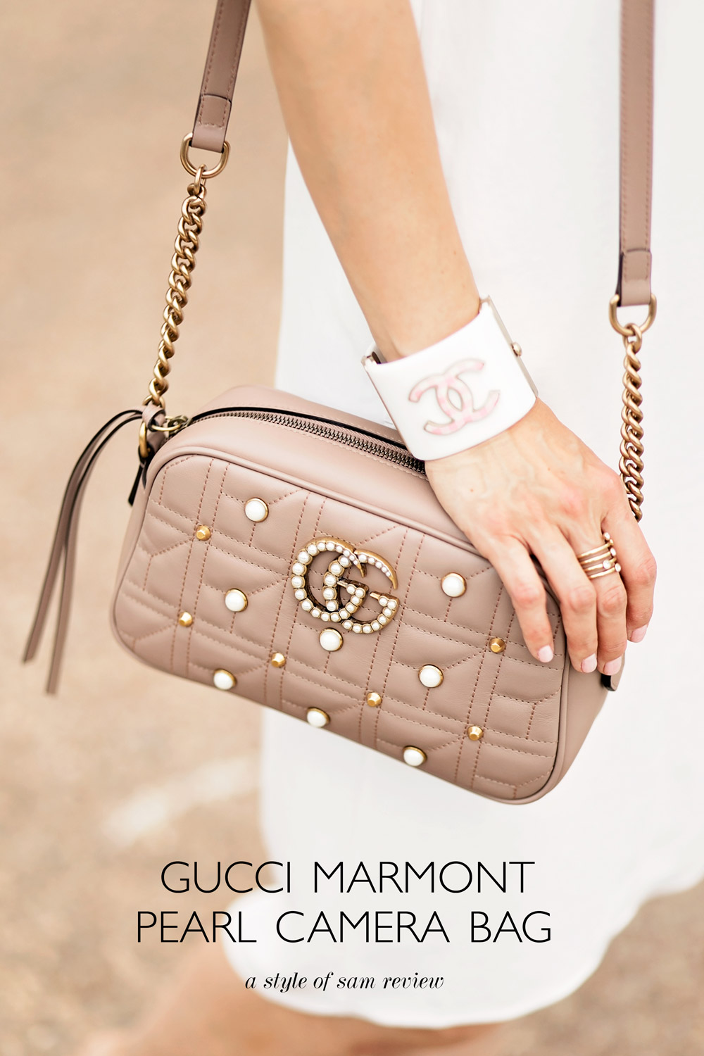 6d6f26e3e33fe8 gucci marmont pearl taupe nude pink camera bag review gucci marmont pearl  taupe nude pink camera bag review what fits in the ...