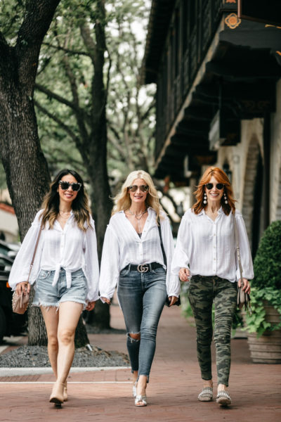 Chic at Every Age // Boho White Button-Up Shirt