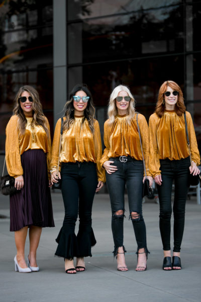 Chic at Every Age // Marigold Velvet Top