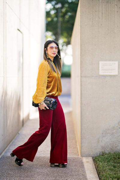 From Grandma with Love // Jewel Toned Ruby Pants