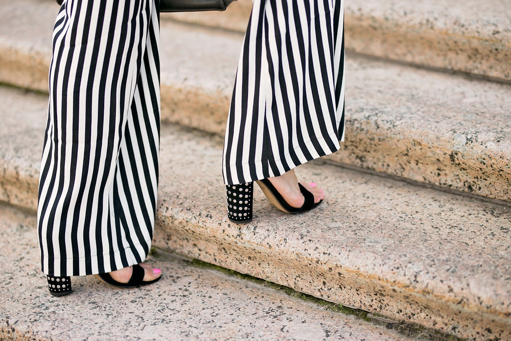 reformation sorrenti striped pants dolce vita studded sandals
