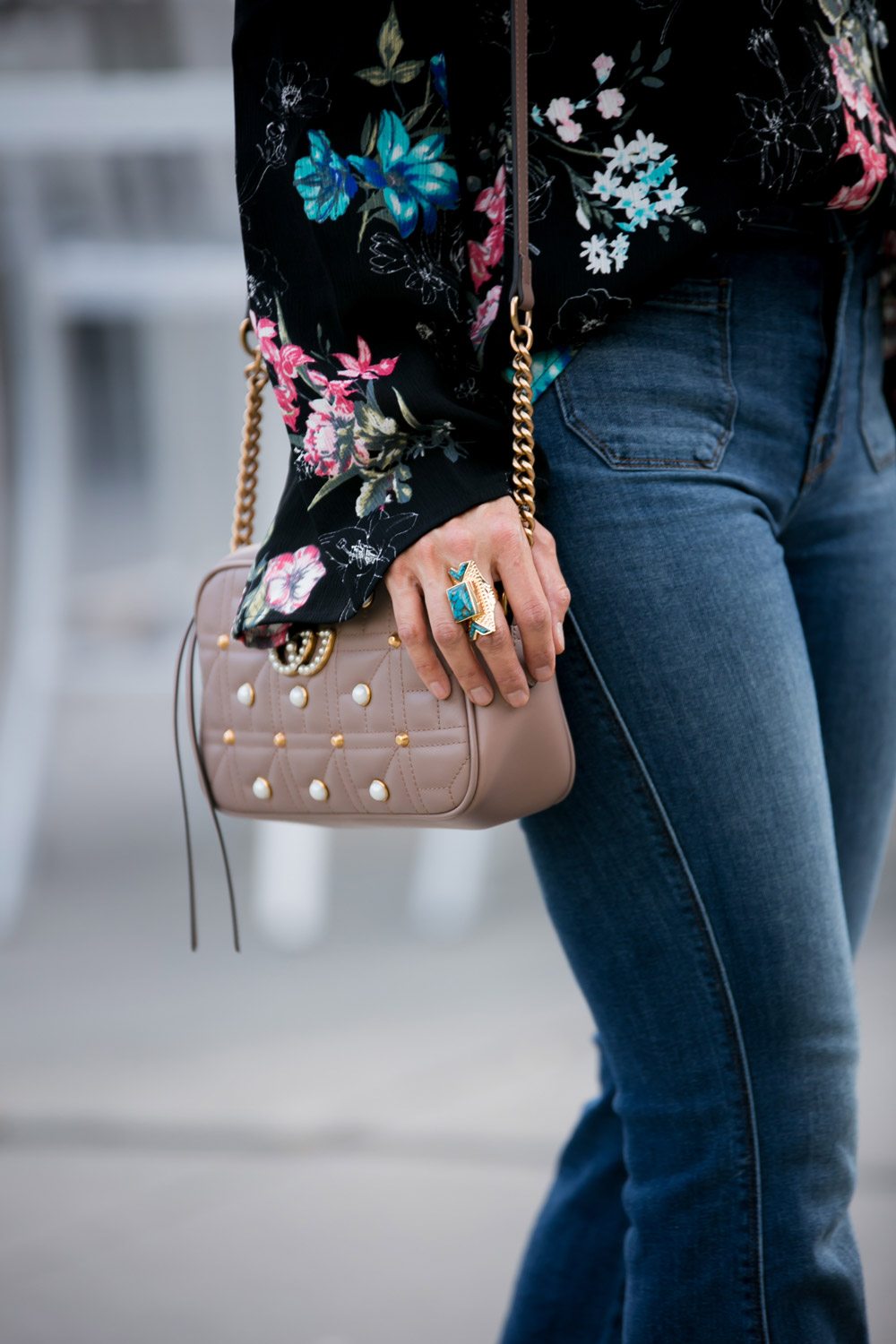 wishing well acacia turquoise ring gucci pearl marmont bag