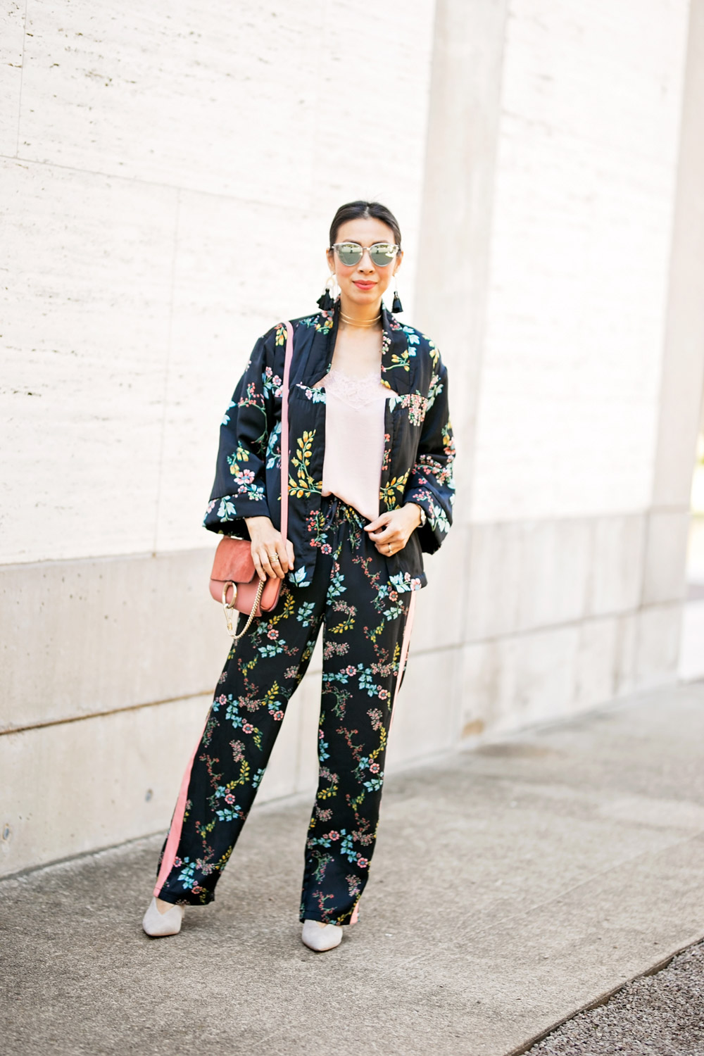 how to wear who what wear collection floral kimono pajama set dressing