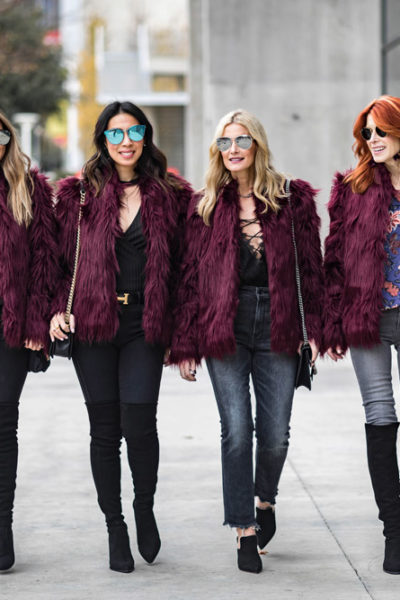Chic at Every Age // Faux Fur Jacket