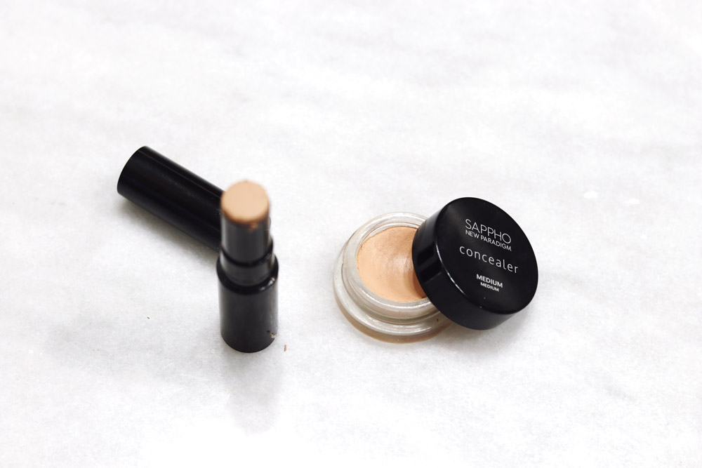 sappho beauty concealer review, clean beauty dupe for cle de peau concealer