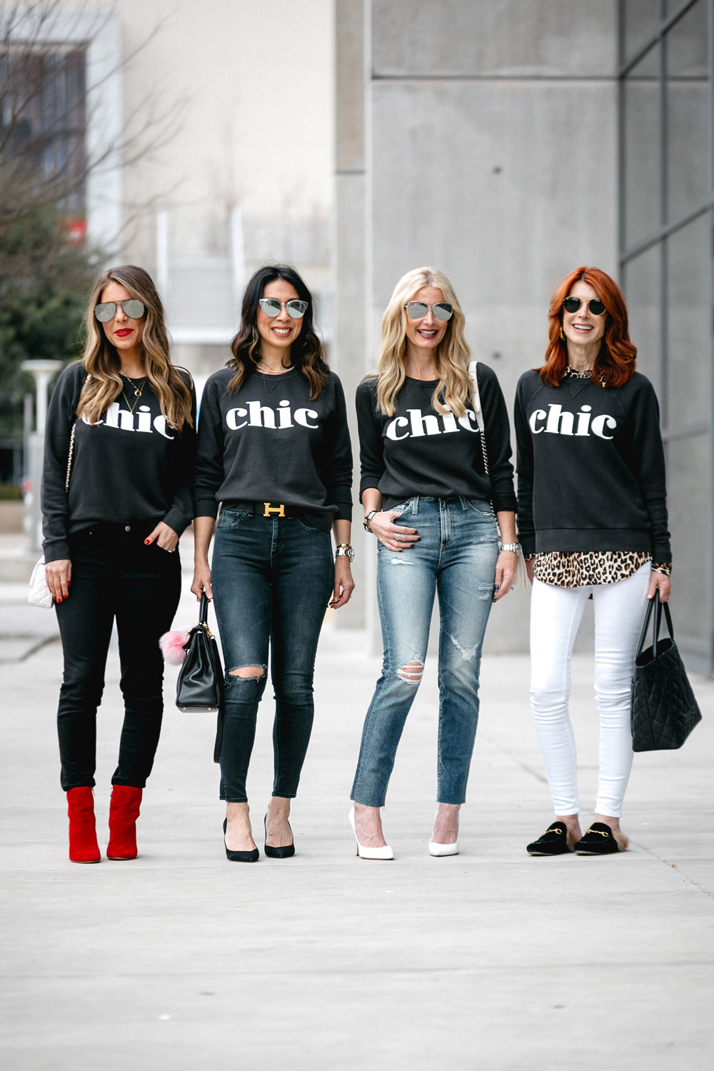 style at any age, how to look chic in a sweatshirt