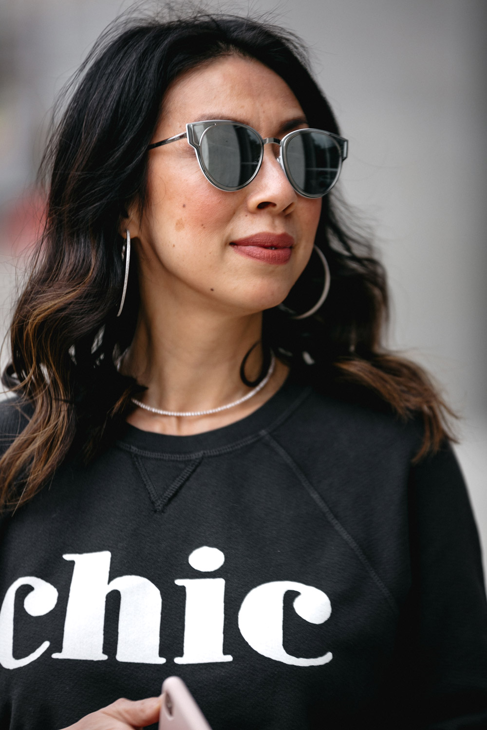 chic sol angeles all black outfit