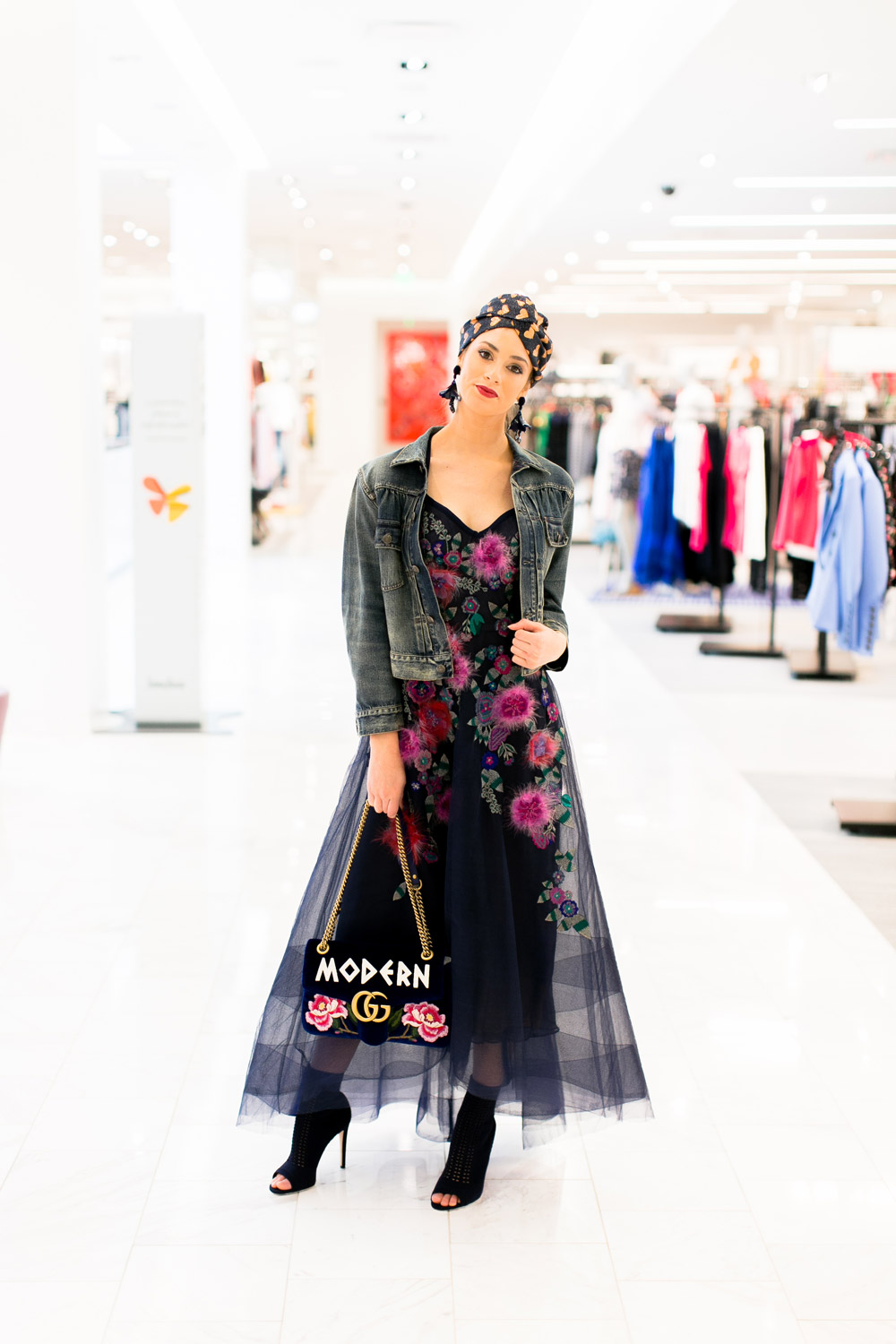 1851f606ab ... Neiman Marcus Spring Trends 2018 Media Preview floral trend on models