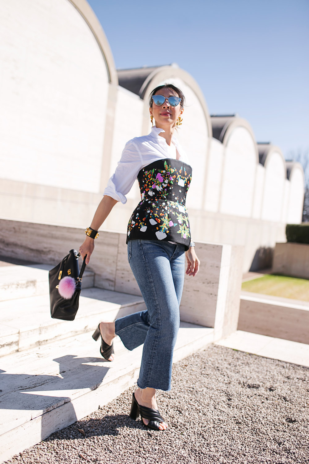 Fashion style How to corset wear over shirt for lady