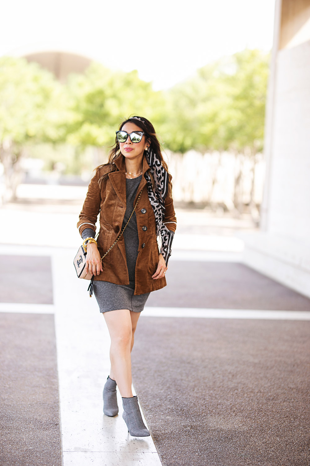 661e86f805715 style of sam in cabi fall 2018 journey jacket put on dress dandy boot and  leopard ...