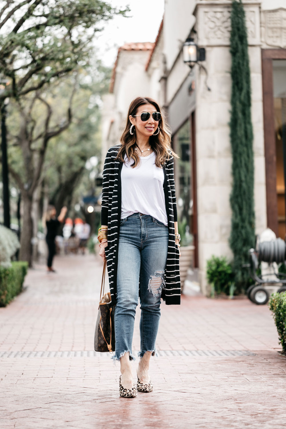 f7b99f1af0 ... style of sam in long linen striped cardigan